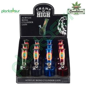 ACRYLIC CYLINDER BONG – 12 UNITS – MIXED COLOURS – CHAMP HIGH